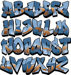 Graffiti alphabet - outsourced vector