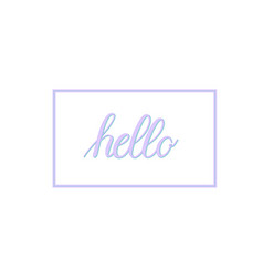 hand-written calligraphy hello word vector image