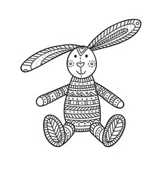Handmade bunny toy vector