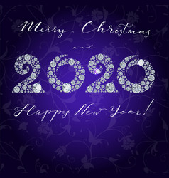 Happy new year card 2020 greeting card with vector