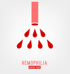 Hemophlia unique logo design vector