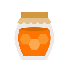 honey jar isolated on white background flat style vector image