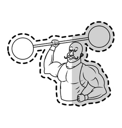 Isolated circus strength man design vector