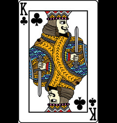 king of clubs playing card vector image