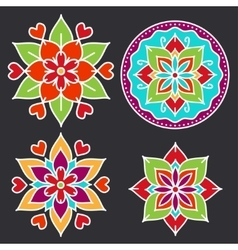 Kolam style elements vector image