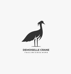 logo bird silhouette style vector image