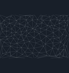 low poly background with connecting dots and lines vector image