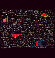 Math education pattern with handwritten formulas vector