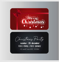 merry christmas gift card template vector image