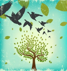 Migrating birds vector