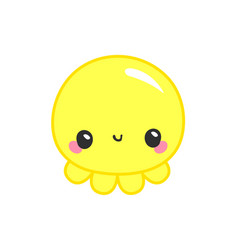 Octopus fun logo baby and kids goods kawaii baby vector