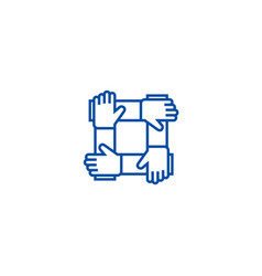 partnershipcollaborationhelp line icon concept vector image
