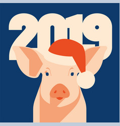 pig icon piggy a symbol 2019 chinese new vector image