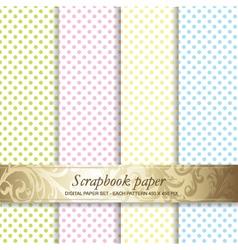 Polka dots scrapbook paper vector