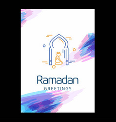 ramadan kareem background calligraphy greeting vector image