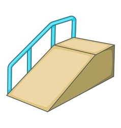 Ramp for the disabled icon cartoon style vector