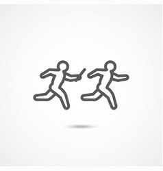 relay race icon vector image