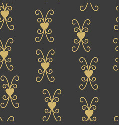 seamless pattern with hearts and elements vector image