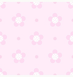 Seamless pink floral Pastel pattern for girl vector