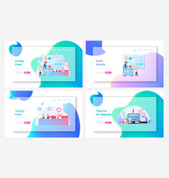 Semifinished products app upgrade landing page vector