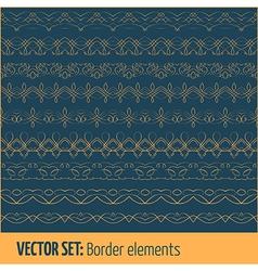 set of border elements and page decoration vector image
