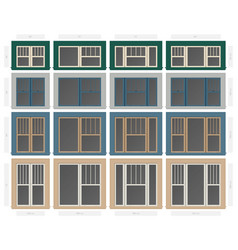 Single hung four vertical section composite vector