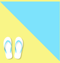 Slippers yellow blue color vector