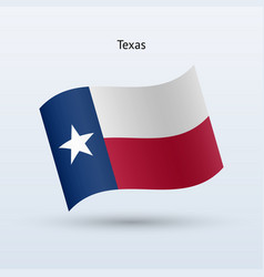 state texas flag waving form vector image