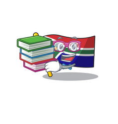 Student with book south africa flag flies at vector