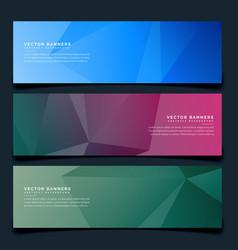 Stylish geometric headers set background vector