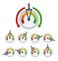 Success conceptual meter hundred percent set of vector