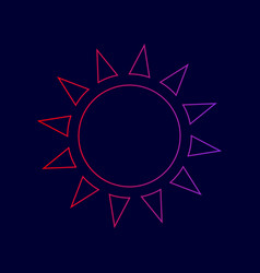 sun sign line icon with vector image