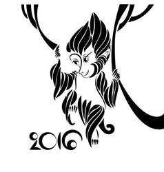 Symbol of 2016 year vector image