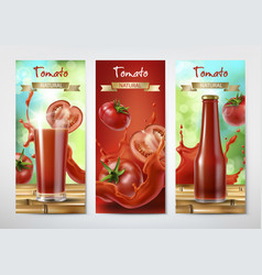Tomato juice and ketchup ad vector