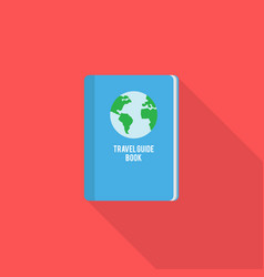 travel guide book icon set of great flat icons vector image