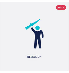 Two color rebellion icon from army and war vector