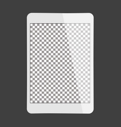 White tablet transparent screen vector