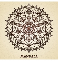 Yoga meditation mandala ornament vector