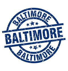 Baltimore blue round grunge stamp vector