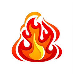 fire flame yellow red vector image vector image