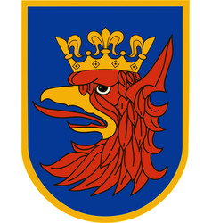 flag of szczecin in west pomeranian voivodeship vector image vector image