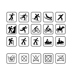 Icons for sport clothes design vector image vector image