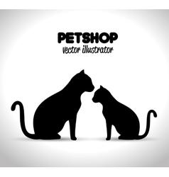 pet shop veterinary emblem graphic vector image vector image