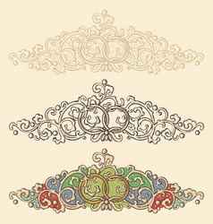 set of wedding renaissance borders vector image vector image
