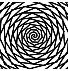 Black and white hypnotic background vector image vector image