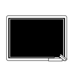 chalk board with school supply icon image vector image vector image