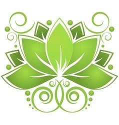 Green lotos vector image vector image