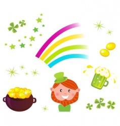 leprechaun icons2 vector image