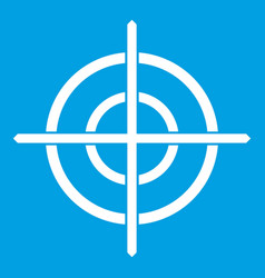 target crosshair icon white vector image