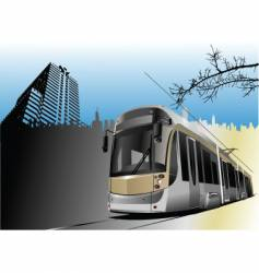 tram and city vector image